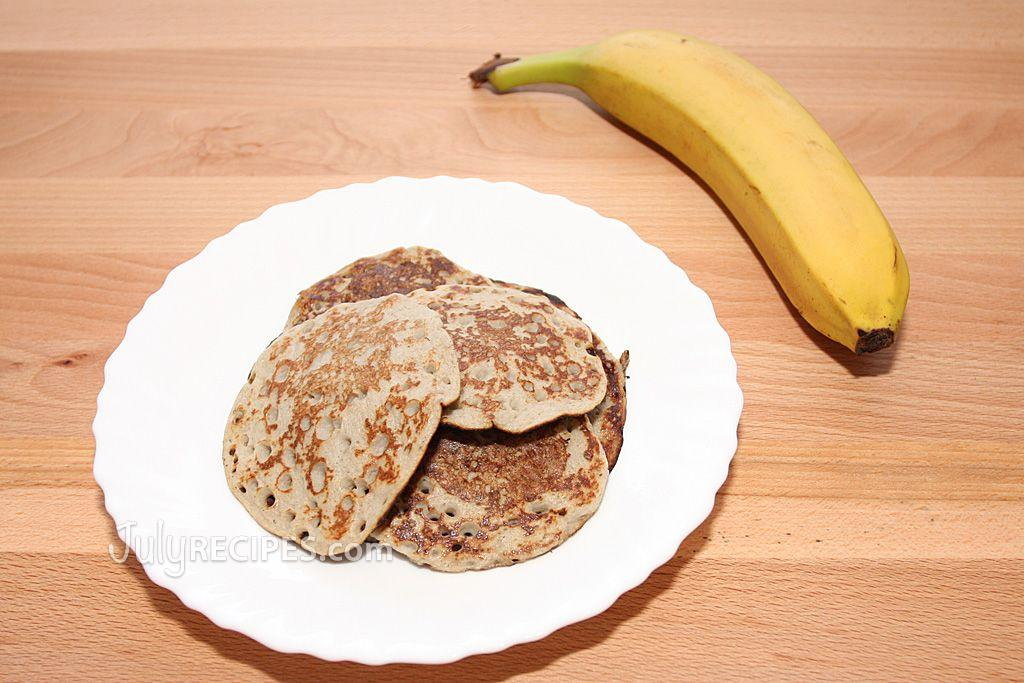 Banana and egg pancakes 2 ingredients july recipes the pancakes made with only bananas and eggs are not as fluffy as regular pancakes but they are tasty healthy and you can give them to the children as ccuart Gallery